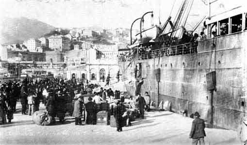 Porto di genova - Partenza degli emogranti