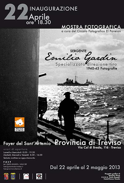 """Mostra fotografica """"Sergente Emilio Gardin - Specializzato direzione tiro - 1940-45"""""""
