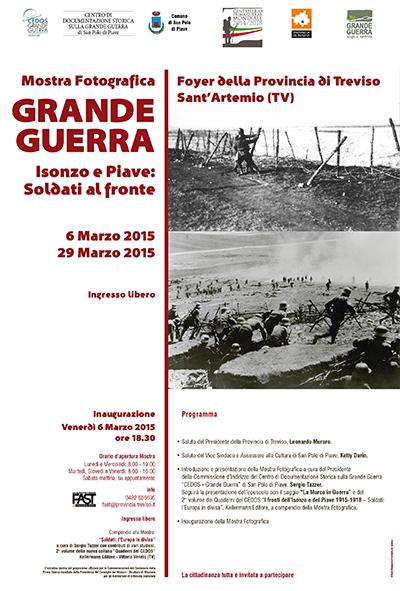 """Mostra della Grande Guerra """"Isonzo e Piave: soldati al fronte"""""""