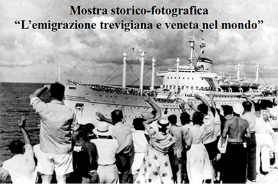 """Locandina """"L'Emigrazione Trevigiana e Veneta nel mondo"""""""