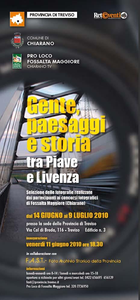 """locandina mostra """"Gente paesaggi e storia tra Piave e Livenza"""""""