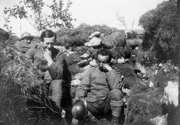 Le trincee del 79° fanteria in quota 778, Bainsizza. luglio 1917. Museo del Risorgimento e della Resistenza di Vicenza