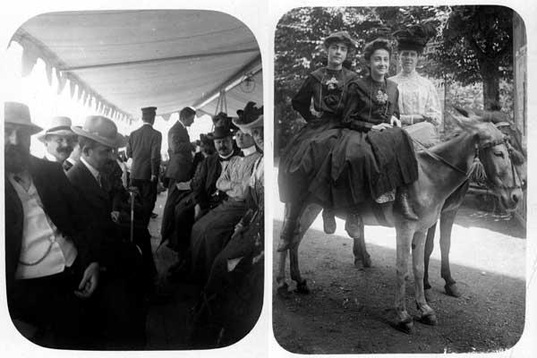 Pallanza, sul battello, 1905, Collezione privata Recoaro, a dorso di asinello, 1905, Collezione privata