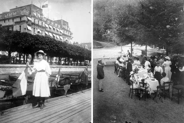 Lucerna, lungolago, 1906, Collezione privata Collio, colazione in giardino, 1906, Collezione privat