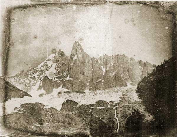 Frederick Crawley. Chamonix, il Monte Bianco (dagherrotipo nella collezione di John Ruskin)