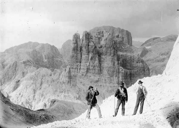 Franz Dantone. Gruppo del Catinaccio, 1890 ca. (Coll. Pellegrinon, Falcade)