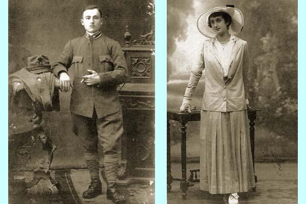 Soldato con sigaretta, (carte-de-visite, in Archivio FAST-Treviso, s.d., ma 1920 ca.) Dama dal fotografo