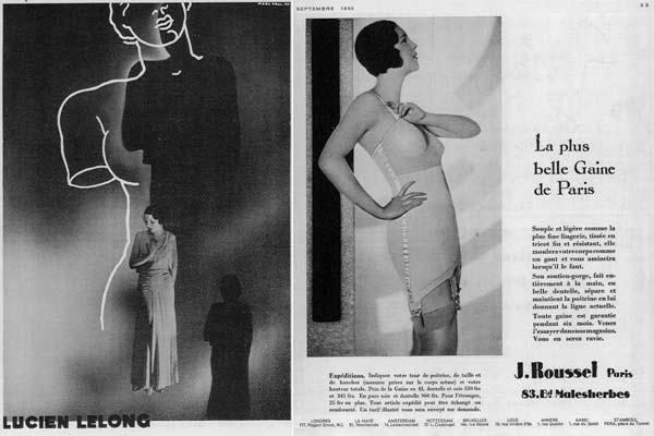"Marc Real. Una pagina di pubblicità per Lucien Lelong in ""Vogue"" settembre 1930 Una pagina di pubblicità in ""Vogue"" settembre 1930"