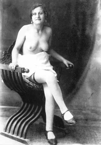 Prostituta trevigiana, anni '30 FAST Foto G. Fini, Lastra negativa, cm 13x18