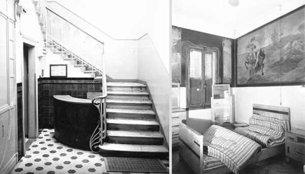 Ingresso e camera da letto del Casino Dozzo di Treviso, 1958, FAST Foto G. Fini